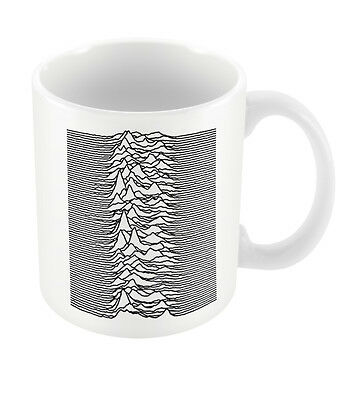 Official Joy Division Unknown Pleasures Mug VTG Punk Black Ian Curtis Rock Boxed