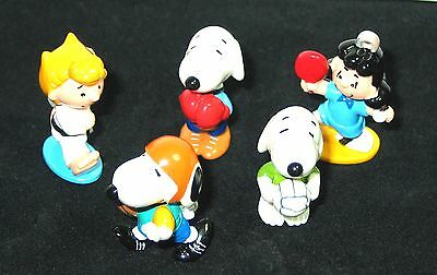 Peanuts Snoopy  2 Sport Snoopy2  5 Figuren Original Ferrero Japan + Bpz  Top!