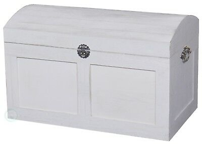 New Vintiquewise White Barn Wood Trunk,  QI003114