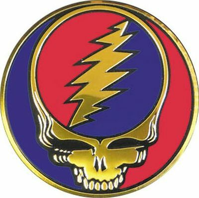 GRATEFUL DEAD - SKULL LOGO - METAL STICKER 3x3 - BRAND NEW - CAR DECAL 2808