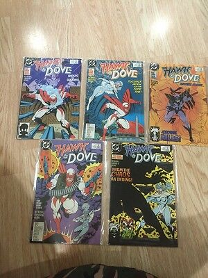 1988 DC Comics HAWK AND DOVE #1,2,3,4,5 Complete Mini-Series 1-5 VF/NM comb ship
