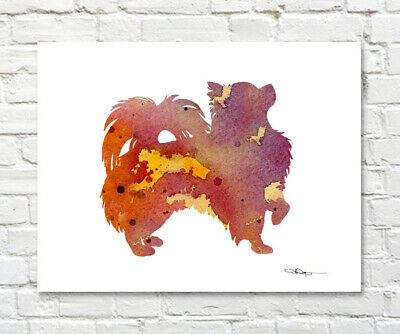 GORDON SETTER Abstract Contemporary Watercolor ART 11 x 14 Print by DJR