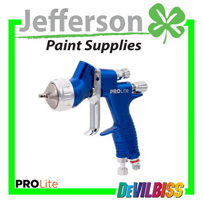 Devilbiss GTI PRO LITE Blue 1.3mm with 2 AirCaps TE10 & TE20 Complete Spray gun
