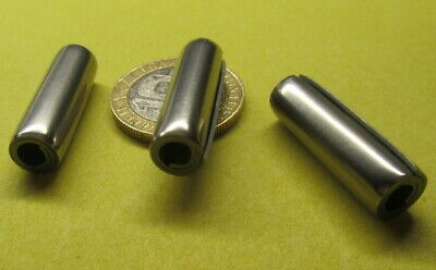 """420 Stainless Steel Coiled Spring Pin, 5/16"""" Dia x 1.0"""" Length, 10 pcs"""
