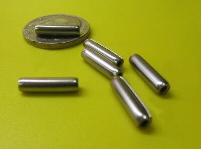 """18-8 Stainless Steel Coiled Spring Pin, 1/8"""" Dia x 1/2"""" Length, 25 pcs"""