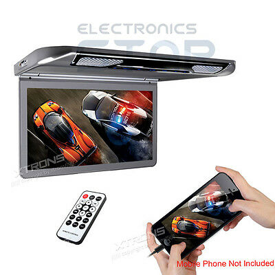 "XTRONS Car Flip Down Roof Overhead Monitor 13"" HD Digital Screen HDMI 1920x1080"
