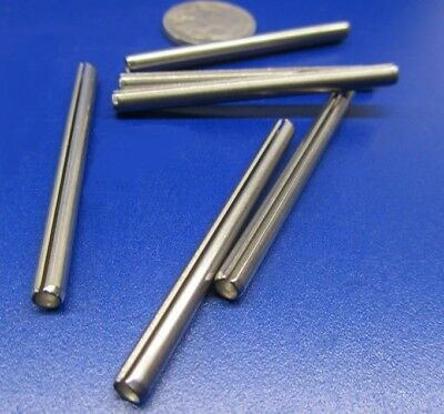 "420 Stainless Steel, Slotted Roll Spring Pin, 5/32"" Dia x 2.0"" Length, 75 pcs"