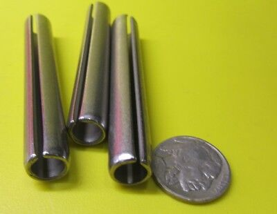 "420 Stainless Steel, Slotted Roll Spring Pin, 7/16"" Dia x 3.0"" Length, 5 pcs"