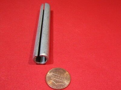"Zinc Plate Steel Slotted Roll Spring Pin, 1/2"" Dia x 3 1/2"" Length, 10 pcs"