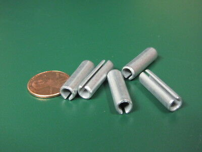 "Zinc Plate Slotted Roll Spring Pin, 1/4"" Dia x 7/8"" Length, Pkg of 100 pcs"