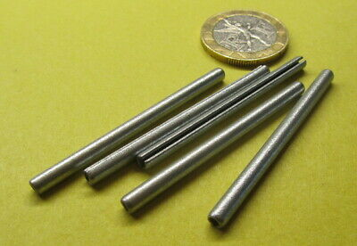 """Zinc Plate Steel Slotted Roll Spring Pin, 1/8"""" Dia x 1 7/8"""" Length, 100 pcs"""