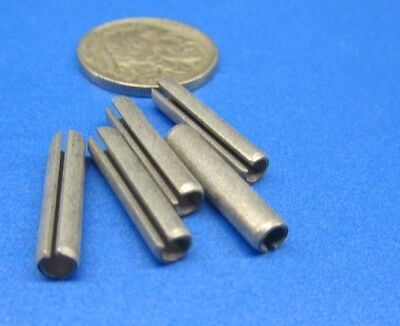 """Zinc Plate Steel, Slotted Roll Spring Pin, 5/32"""" Dia x 3/4"""" Length, 200 pcs"""