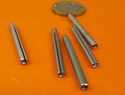 """420 S.S. Slotted Roll Spring Pin, 1/8"""" Dia x 1 1/4"""" Length, Pkg of 100 pcs -214"""