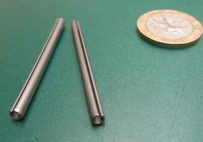 """420 Stainless Steel, Slotted Roll Spring Pin, 1/8"""" Dia x 1 3/4"""" Length, 100 pcs"""