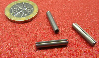 """420 Stainless Steel, Slotted Roll Spring Pin, 1/8"""" Dia x 11/16"""" Length, 200 pcs"""