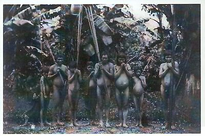 Nude Indian Hunters in South America, Amazon -- Native American History Postcard