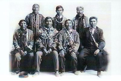 Indian Chiefs of Alaska Tanana Conference 1915, Native American History Postcard