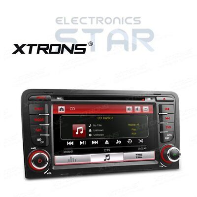 "XTRONS 7"" Audi A3 S3 Head Unit Car Stereo CD DVD Player RDS Radio GPS Sat Nav"