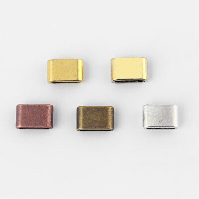 10/30pcs Slider Spacer Beads For Use With 5mm 10mm Flat Leather Jewelry Findings