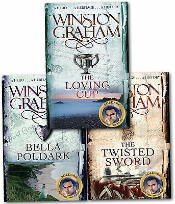 Winston Graham Poldark Series Trilogy Books 10,11,12 Collection 3 Books Set
