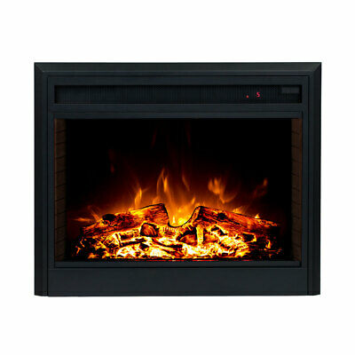 Brand New 2000W Electric Fireplace Heater Insert Realistic Flame Effect Wood Log