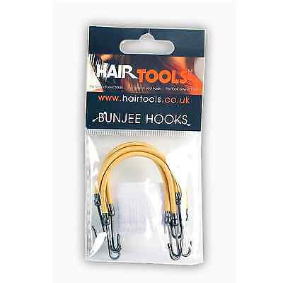 4 x Hair Tools Blonde Bungee Hair Hooks For A Variety Of Hair Dressing Uses