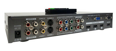 HDMI VGA RCA S-Video Component Video To HDMI Converter Switch W/ IR Remote RS232