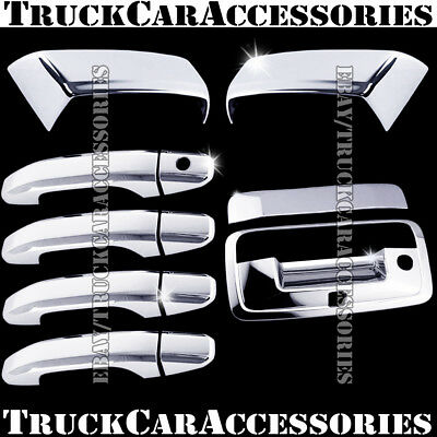 For CHEVY SILVERADO 2014 2015 2016 CHROME COVERS SET MIRROR+DOOR HANDLE+TAILGATE