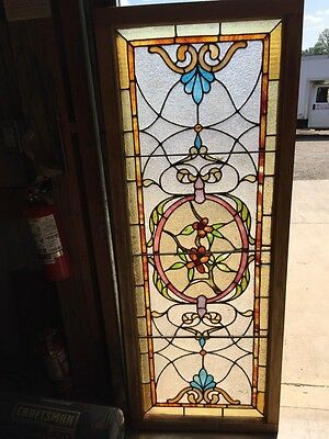 St 1002 Antique Floral Transom With Jules 23.625 X 61.875