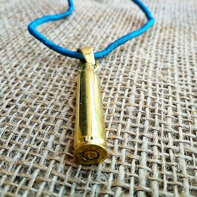 Cambodian Recycled Brass Bullet Casing Pendant / Necklace Handmade Unisex