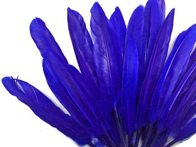 500 Feathers - Royal Blue Duck Cochettes Loose Wholesale Bulk Wing Quill Costume