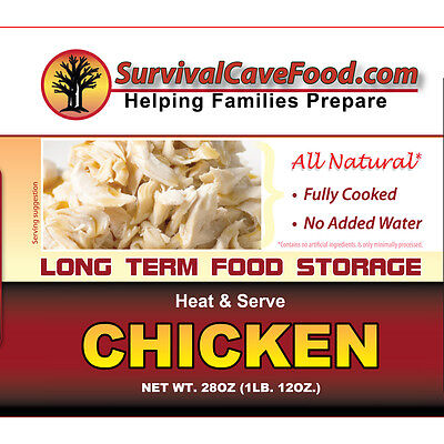 Survival Cave Food Canned Chicken Case 12 28oz Cans 15 Yr Shelf LIfe
