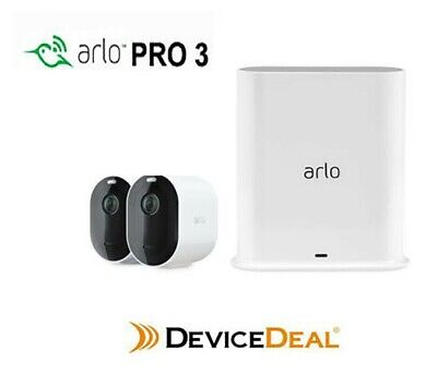 NETGEAR VMS4330 Arlo Pro Wire-Free 3 HD Camera Security System + Back Skin Cover