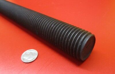 "4140 Steel Threaded Rod, Grade B7, RH, 1 1/4""-7 x 2 Foot Length, 1 Unit"