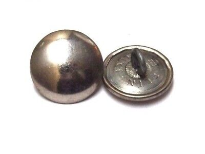WWI Silver colored German Uniform Button 11/16 in 17.5mm 28L Lot of 2 B1802
