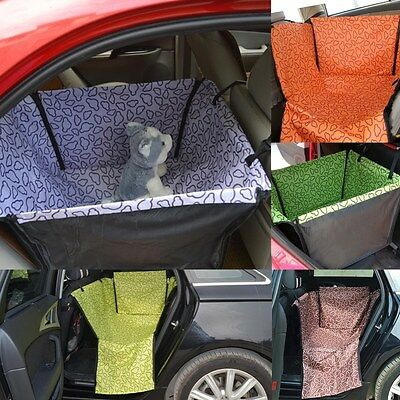 Pet Car Rear Back Seat Cover Safety Waterproof Dog Cat Hammock Cover Cushion uk