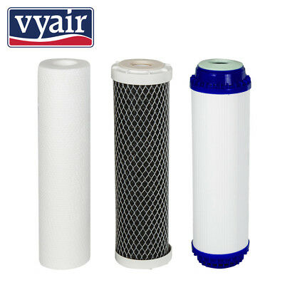 3 Pre Filters for Reverse Osmosis vyair RO-6 COMPLETE -Spare Water Filters