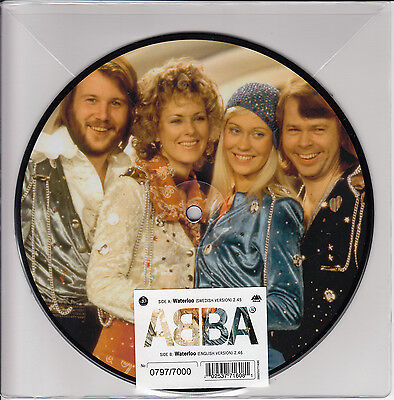 "ABBA Waterloo UK 40th Ann 7"" vinyl picture disc in numbered sleeve NEW/UNPLAYED"