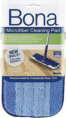 Bona Microfibre Cleaning Pad Blue - Use With Wooden/Wood Floor Spray Mop Kit