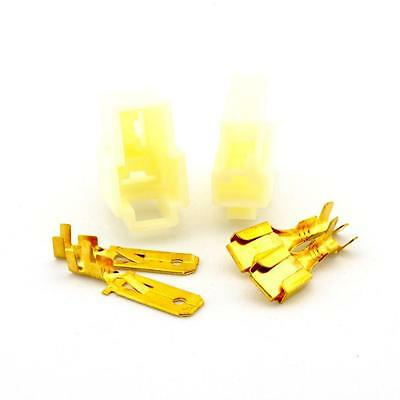 Complete 2 Way 6.3mm Latching Electrical Connector Kit