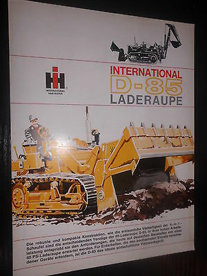 Prospekt Sales Brochure IH International D - 85 Laderaupe Technische Daten
