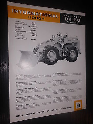 Prospekt Sales Brochure IH International Hough Payloader DH 60 Allradantrieb