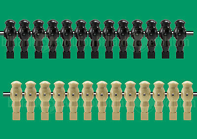 "13 Tan/13 Black Robotic Style Foosball Men for a 5/8"" Rod"