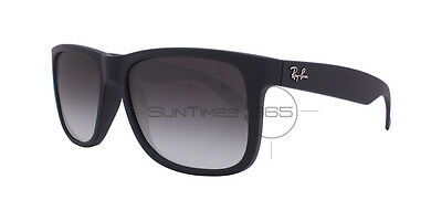 New Ray Ban Justin RB4165 601/8G 54 Black Frame / Grey Gradient Lens