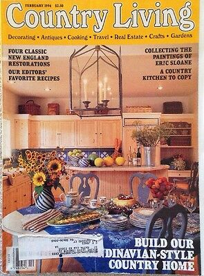 Country Living Magazine Vintage Feb 1994 Cooking With The Editors
