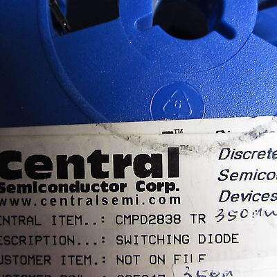 CMP2838TR Central Semi 350mW, 75V, 100mA, Dual Switching Diode 3pin SOT23 100 pc