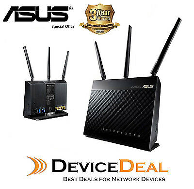 ASUS  AC1900 Wireless Gigabit Router RT-AC68U Official Warranty By ASUS