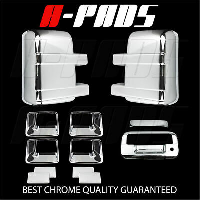 For Ford F-250/f-350 08-16 Chrome Mirror, Door Handle & Tailgate Cover W/o Light