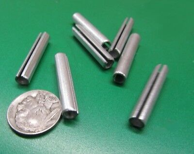 """Zinc Plate Slotted Roll Spring Pin, 1/4"""" Dia x 1 3/8"""" Length, Pkg of 100 pcs"""