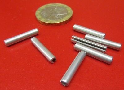 "Zinc Plate Steel, Slotted Roll Spring Pin, 1/8"" Dia x 11/16"" Length, 250 pcs"